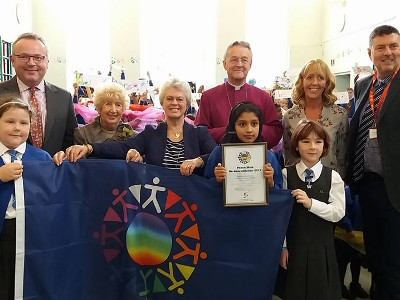 Celebrating Peace Mala Re-Accreditation with Christchurch Primary School Swansea