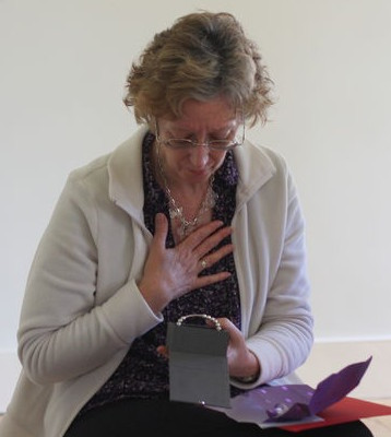 Rev Elaine Walker receiving her Bespoke Peace Mala
