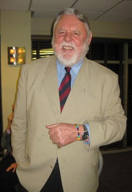 Terry Waite wearing his Peace Mala with pride