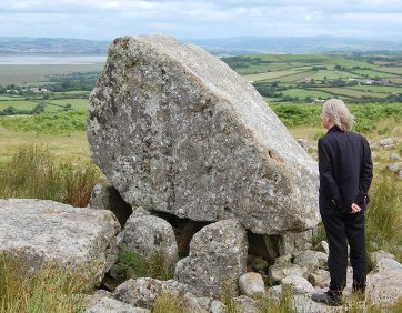 Thomas Caldas at Arthur's Stone in Gower South Wales