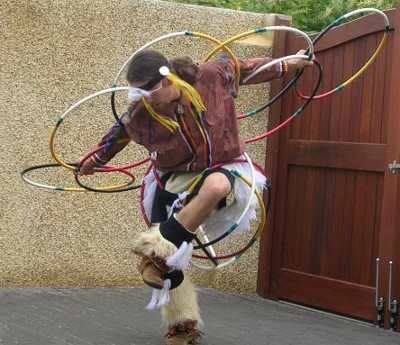 native hoop dance by Rising Eagle