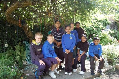 Hafod Pupils in the Peace Mala Garden