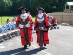 Town Mayor of Keighley and Lord Mayor of Bradford in perfect step