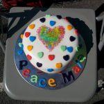 Peace Mala cake