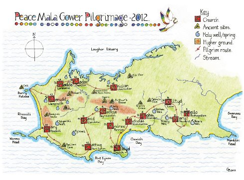 Peace Mala Pilgrimage Map