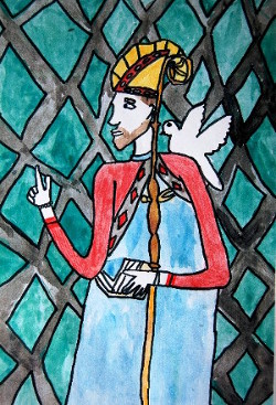 Saint David by Hannah Murphy (Pupil of Catwg Primary School Cadoxton Neath)