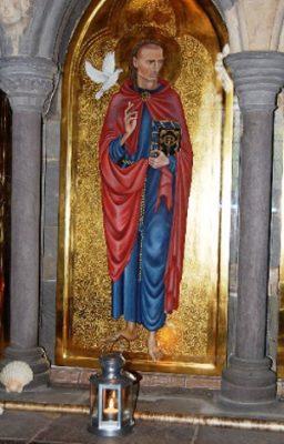 Blessed light of Saint David at Saint David's Shrine, now kept at Peace Mala HQ