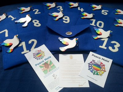 Peace Mala Symbolic Doves of Peace Launch April 2015