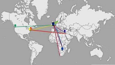 Peace Dove world locations in August 2015