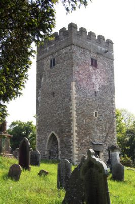 Llangyfelach 12th Century Norman Tower built within the Celtic Graveyard