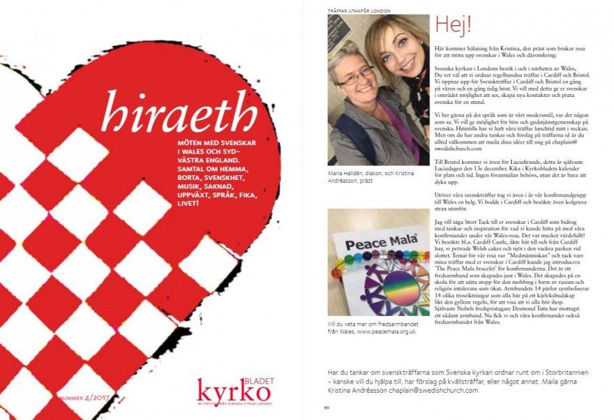 Article in Kyrkobladet nr4 2017