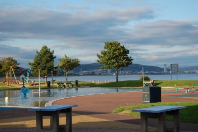 View from the Junction Cafe across Swansea Bay towards the City