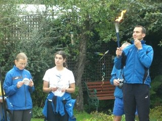World Harmony Runners in the Peace Mala garden