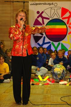 Pam Evans at the Peace Mala Youth Awards Ceremony 2006