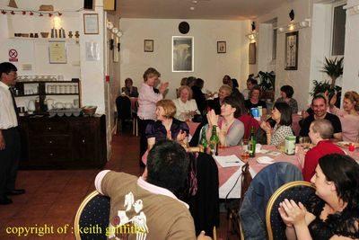 Farewell meal at Gurkha Heaven Restaurant Llanelli