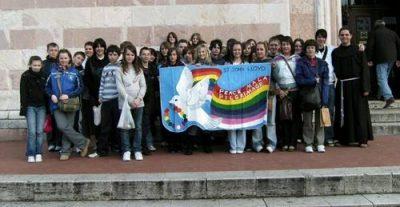 St John Lloyd Peace Mala pilgrims in Assisi