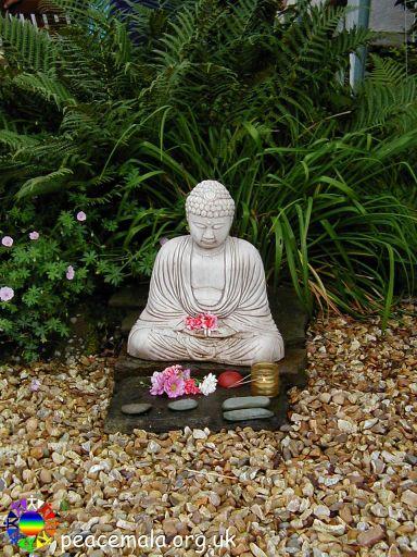 Buddha statue in the Peace Garden