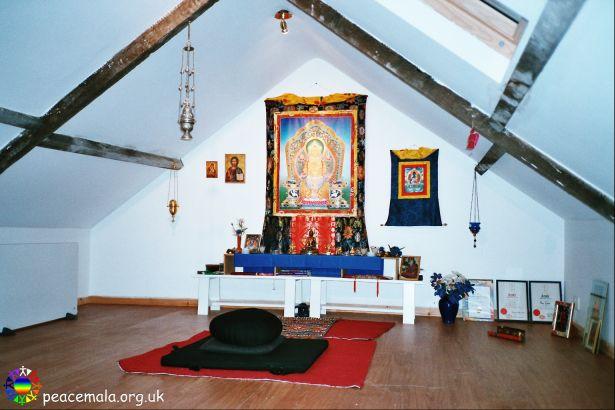 The Meditation Room at the Peace Mala Centre