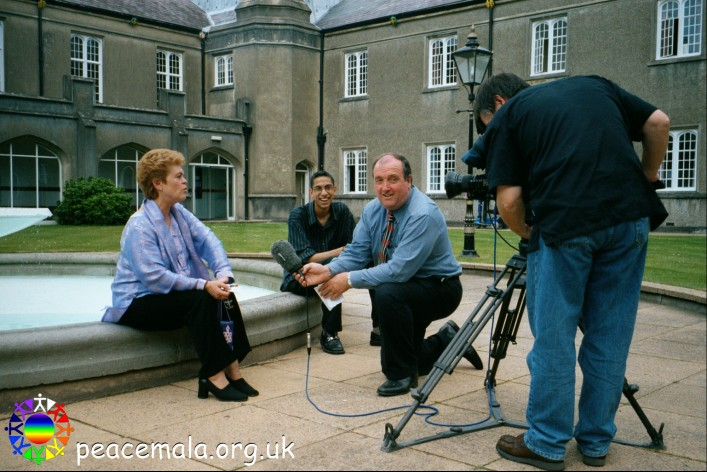 BBC, HTV and S4C interview at Lampeter University